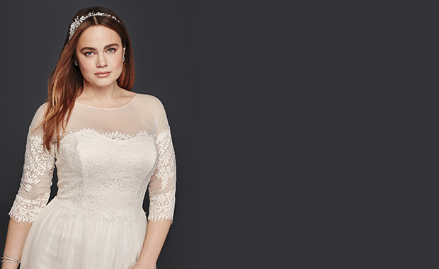 Best Wedding Dress Styles For Plus Sizes Davids Bridal