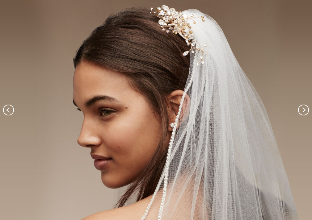 VEILS & COMBS | David's Bridal Hair Accessories