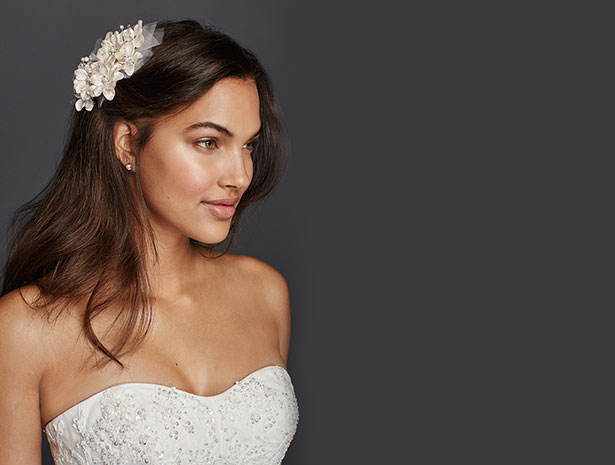 Flower Combs | David's Bridal Hair Accessories