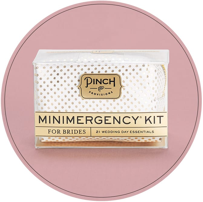 Mini emergency kit for brides